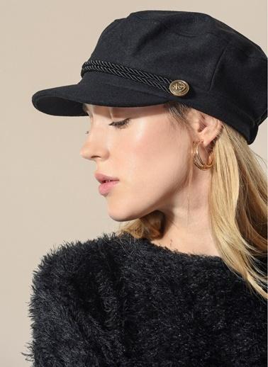 Agenda Süet Kasket Şapka Siyah